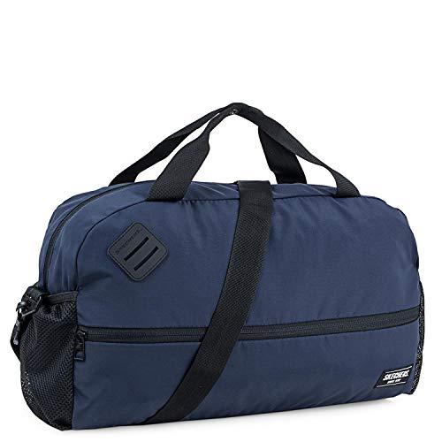 SKECHERS - Sporttas. Sporttas met verstelbare schouderband. Canvas tas. Praktische, veelzijdige, lichtgewicht en comfortabele S893, Color Marine sport