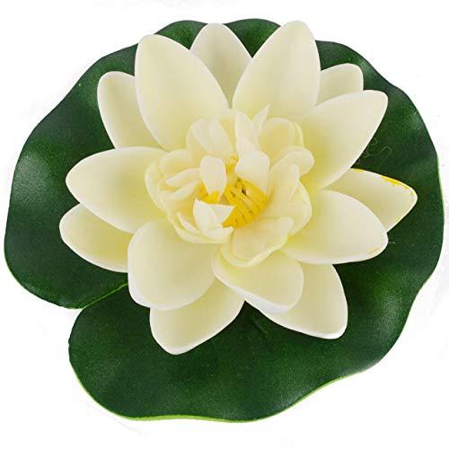 Banbie Schön gestaltete dauerhafte künstliche Lotus schwimmende Blume Lotus Hausgarten Teich Aquarium Dekoration 10cm