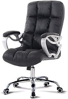 Sillas de la cocina del hogar de la sala de sillas Se adapta nórdico Estilo creativo Silla de oficina multifuncional de piel simple silla de la computadora de estilo retro for el estudio de oficina