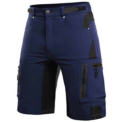 Cycorld MTB Hose Herren Radhose, Mountainbike Hose Fahrradhose Herren Kurz, Schnelltrocknende MTB Shorts Radlerhose Herren Atmungsaktiv Outdoor Bike Shorts (Navyblua, XL)