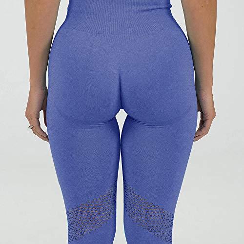 ArcherWlh Leggings Mujer,2021 Amazon Broting Pantalones de Yoga sin Fisuras Europa y América Yoga Fitness Shorts Sports Medias Pantalones Hips juego-Yj019 Tibetano_Metro