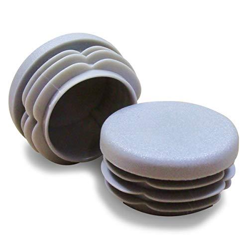 ajile - 12 piezas - Contera redonda acanalada para tubos -