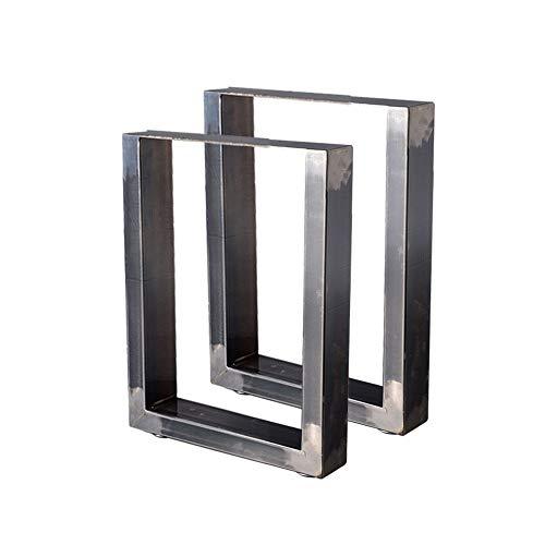 Zelsius Tischbeine Tischkufen Tischgestell 2 Stück Metall Kufen Rohstahl oder Grau I verschiedene Größen I Industrie ((B) 30 x (H) 43 cm, Rohstahl (transparent lackiert))
