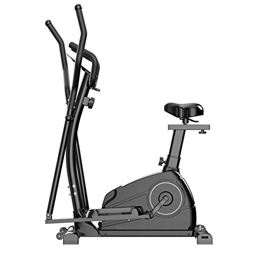BAHAOMI Fitness Máquina Elíptica,Entrenador De Resistencia,Bicicleta Elíptica para Casa Multifuncional,Cross-Trainer,Stepper,Ajuste De Resistencia De 8 Velocidades,Silencioso,Asiento Regulable,Negro