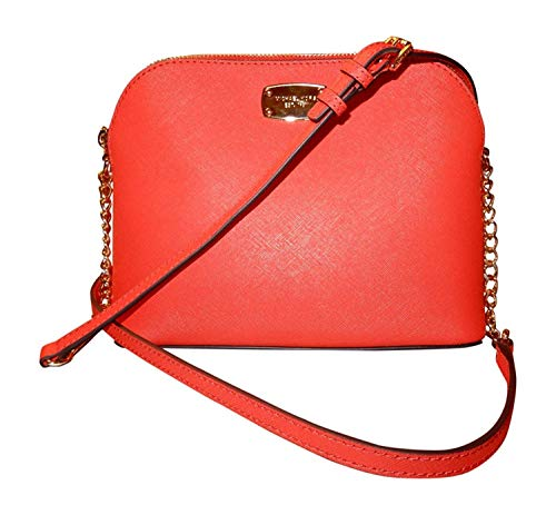 """Made of Saffiano leather Perfect size to carry all your daily essentials Wear crossbody or over the shoulder Top zip closure; Interior features 1 zip pocket and 1 slip pocket 8.5""""L x 7""""H x 3.5""""D"""