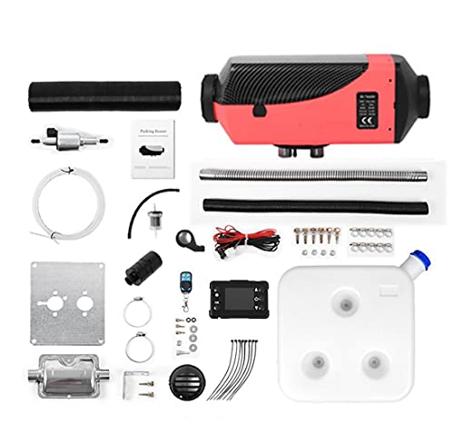 Calentador de automóviles 2/5 / 8kW, Calentador de Calefactor de Diesel de Aire de 24V con Control Remoto Monitor LCD para RV, Motorhome, Camiones, Barcos (Color : B, Size : 8KW)