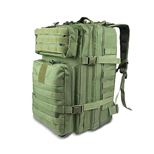Liadance Viajes Mochila Mochila Paquete Impermeable Combate Grande Y Confortable Mochila para La Excursión Que Acampa Caza Trekking Ejército Verde