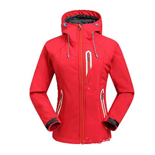 Chubasquero deportivo casual para mujer - rojo - Medium