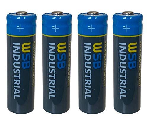 4er Pack SOLAR Mignon AA Akkus - wiederaufladbare Batterien - 3,2V 1,92Wh LiFePo4 Hochleistungs- Akku Batterie speziell für Solarlampen Solar Lichterkette Solarleuchte Leuchte