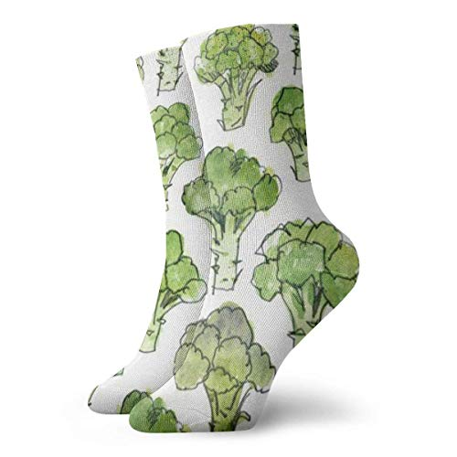 Unisex verde broccolo traspirante fantasia caviglia corsa calzini da trekking-weekend sportivi calzini sportivi calzini corti 11,8 pollici