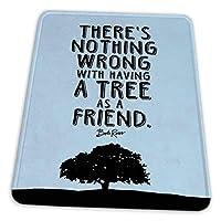 マウスパッド ゲーミングマウスパッド-ボブ・ロスは友人として木を持っていることで何も問題はありません(青)引用滑り止め デスクマット 水洗い 25x30cm