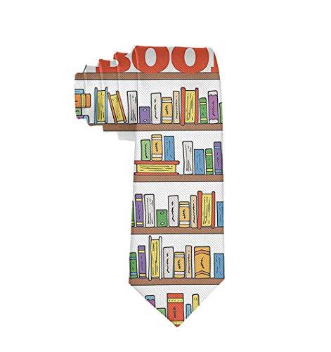 Estantería de biblioteca moderna con corbata para hombre con regalo de corbata de escalera