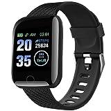 TEFMA Smartwatch, Sport Fitness Tracker Smartwatch, con pulsómetro, monitor de sueño, cronómetro IP65 resistente al agua, reloj deportivo podómetro para Android e iOS Smart Watch para hombre y mujer