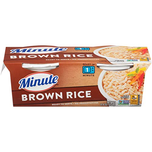 Minute Ready to Serve Brown Rice Whole Grain Gluten Free NonGMO No Preservatives BPAFree Cups 88 Ounce Pack of 1