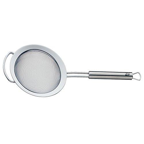 WMF Profi Plus Küchensieb Ø 12 cm, mit Drahtgeflecht, Cromargan Edelstahl teilmattiert, spülmaschinengeeignet