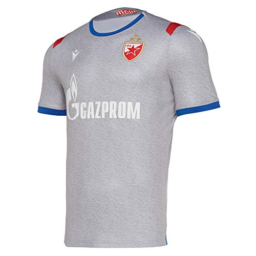 Macron Roter Stern Belgrad 3rd Trikot 19/20 grau RSB Third Shirt Fan Serbien, Größe:M