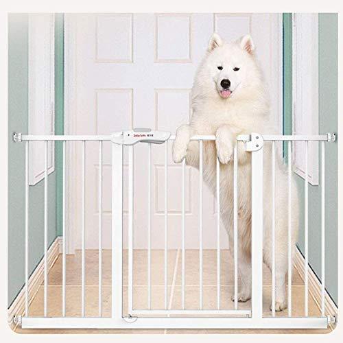 WYH Säkerhetsdörrstopp 65 ~ 294 cm hög 77 cm hundstaket husdjur inomhus dörr staket hushåll hund bur isolering räcke bekvämlighet (storlek: 195-204 cm)
