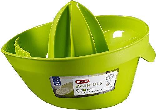 CURVER Zitruspresse Essentials in Limone/grün, Kunststoff, 18x15.5x12 cm