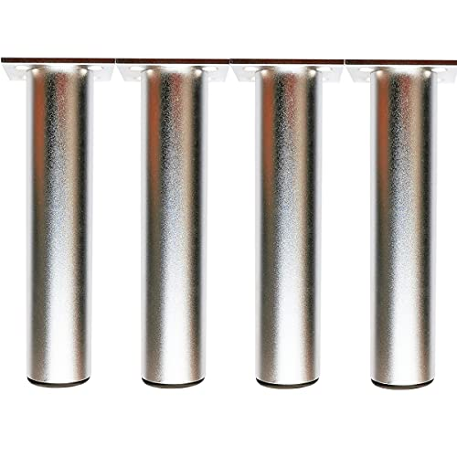 Qrity 4 Piezas Patas de Muebles Armario de Aleación de Aluminio Patas de Cocina Sofá Mesa de Metal 250mm