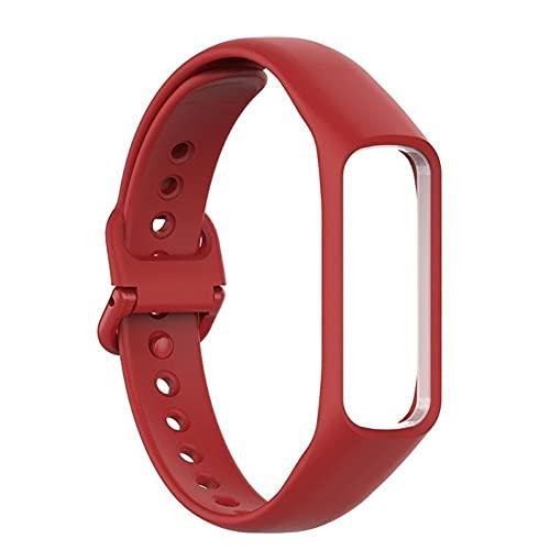 Bandas de silicona compatible para Samsung Galaxy Fit-e R375, suave silicón del deporte reemplazo correas pulseras para hombres de las mujeres (Color : 9, Size : For Samsung Fit-e R375)