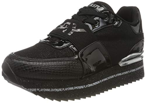 Replay Damen Manhattan Sneaker, 003 Black, 37 EU