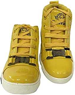 Kiinkaa Kids Unisex Glossy High-top Casual Shoe (Size: 3C-5 for Age Group 3 Months-10 Years)
