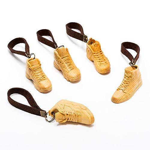 Qiaodan X1 Mini Estatuilla De Madera Zapatos Sneaker Y350...