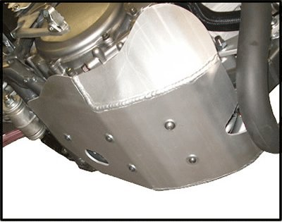 """Suzuki DR-Z 400 Skid Plate Constructed with 3/16"""" 5052 H-32 Aluminum. Mounting hardware. by Ricochet for 2000 to 2016 Including 2016, 2015, 2014, 2013, 2012, 2011, 2010, 2009, 2008, 2007, 2006, models"""