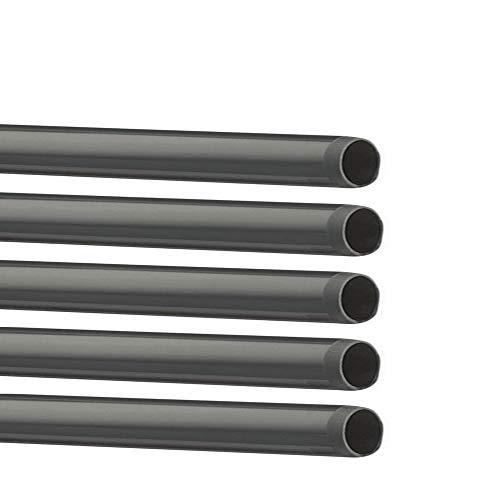 EXCOLO 5 STK. PVC Rohre Ø 40 mm B-Ware. Nur Rohr ohne Fitting Fitting Winkel Kniestück Adapter Muffen T-Stück Kappen (5 x Rohr 1 Meter)