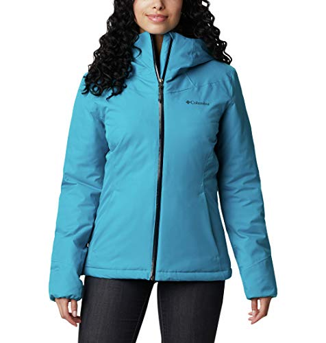 Columbia Windgates Insulated Chaqueta Impermeable con Capucha, Mujer, fjord Blue, XS