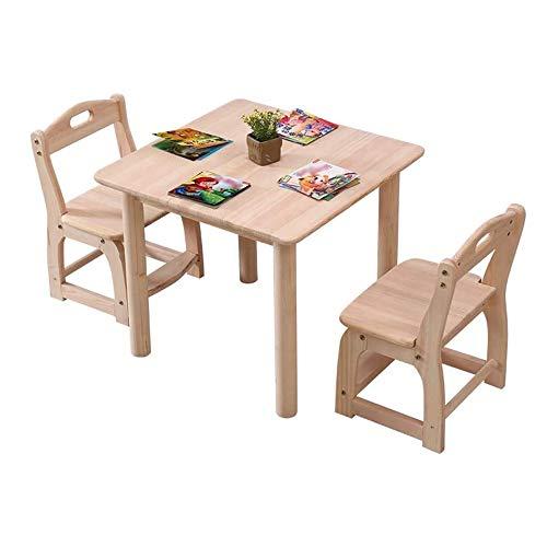 SMLZV Tabla niños y Juego de sillas, de Madera Maciza de Mesa for niños y Presidente de heces Set /, Muebles for niños, dormitorios Sala de Juegos Mesa de Actividades, Mesa de Comedor