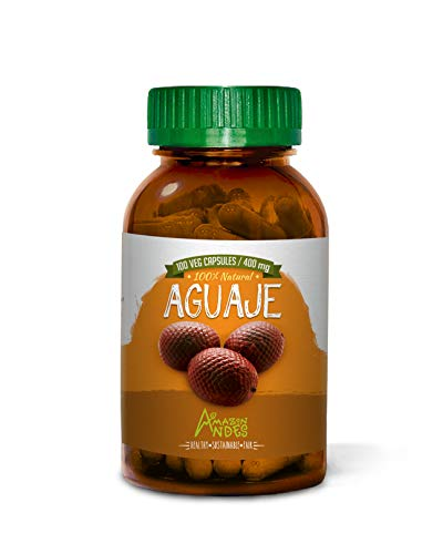 Amazon Andes - Aguaje Capsules - 100 Pills - Buriti - 100 % Natural - Non GMO - Vegan - Wild Harvested in Peru