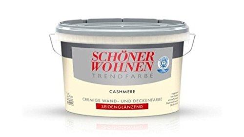 Schöner Wohnen Trendfarbe, Wandfarbe, Cashmere Seidenglänzend 2,5 Liter