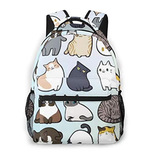 Mini Cat Daily Backpack,Stylish College School Backpack, Casual Daypack Backpack for Unisex/Business/Travel