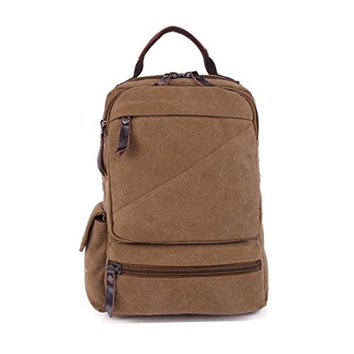 Sincere® la mode Fashion Backpack / Zipper Sacs à dos / Rue / Multifonction / Sac à dos / École de sac de toile / sac d'ordinateur casual / extérieur Voyage sac à dos kaki