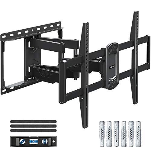 Eono Essentials TV Wandhalterung Schwenkbar Neigbar, Fernseher Wandhalterung mit Doppel Arm für meiste 42-70 Zoll LED, LCD, OLED, Plasma TVs bis zu 45.5kg mit max. VESA 600x400mm PL2617