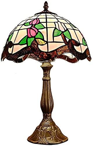 JAOSY Estilo Campo Rural romántico vitral Sala de Estudio decoración lámpara de Mesa Dormitorio cálido lámpara de Noche lámpara de Mesa 30 * 50 cm