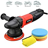 ZOTA Buffer Polisher, 15mm Long-Throw Orbital Polisher, 6' /850w Dual Action Polisher with Variable Speed/Soft Start/3 Professional Pads.