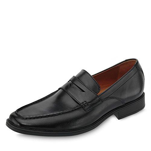 Clarks Herren Tilden Way Slipper, Schwarz (Black Leather), 45 EU