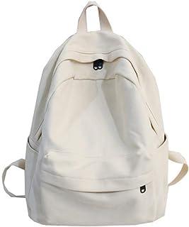 XIAJIA Backpack Sacs en Toile pour L'École Adolescente Sac À Dos Femme Cartable Middle High School University Student Book...