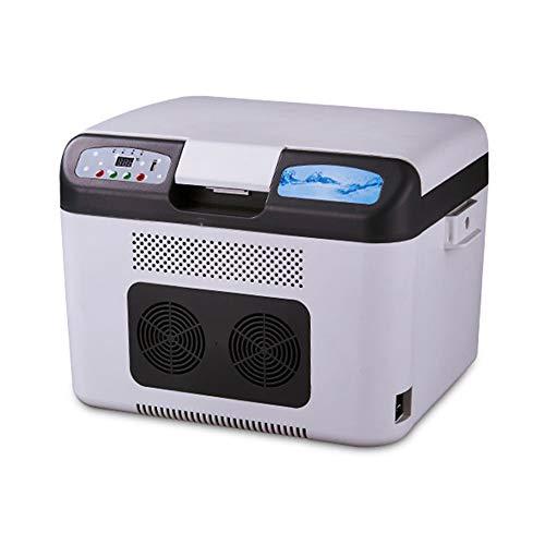YBQ Mini frigo Frigorifero Doppio per Auto con Refrigerazione 26L Frigorifero per Refrigerazione E Refrigerazione per Uso Doppio A Doppio Uso Frigorifero Refrigerato