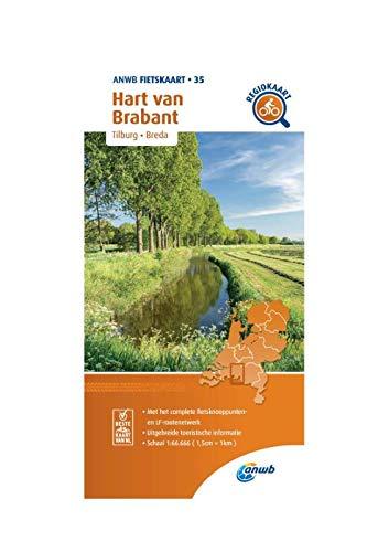 Fietskaart Hart van Brabant 1:66.666: Tilburg, Breda