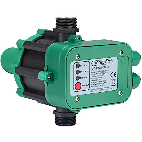 Monzana Druckwächter Druckschalter Pumpensteuerung Hauswasserwerk Gartenbewässerung ohne Kabel 10bar