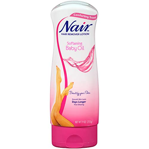 Nair Hair Remover Lotion, Softening Baby Oil, 9.0 oz.(Pack of 3)