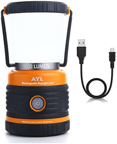 AYL LED Camping Lantern Rechargeable 1800LM 4 Light Modes 4400mAh Power Bank IP44 Waterproof product image
