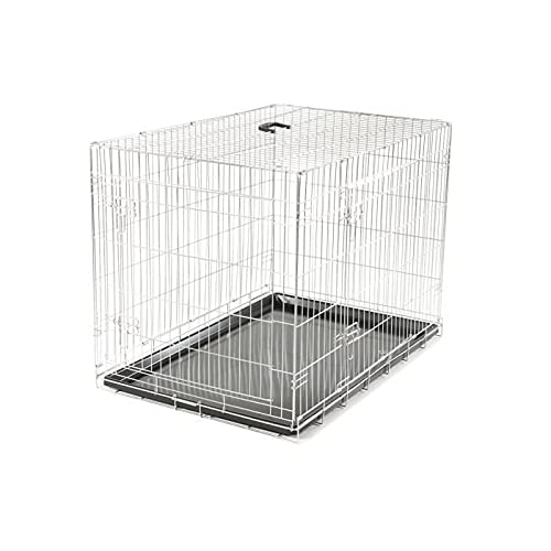 VADIGRAN Cage Métallique Pliable Classic pour Chien Argent 109 x 71 x 79 cm