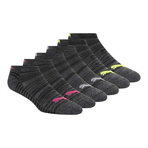 PUMA Women's 6 Pack Low Cut Socks, black/pink, 9-11