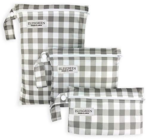 ESLESGREEN Bolsa de Pañales 3 pcs, Bolsa Impermeable para muda bebé - Organizador ropa bebé