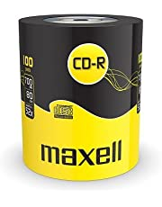 Maxell Eco-Pack CD-R onbewerkte schalen (80Min, 700MB, 52x Speed, 100-pack)