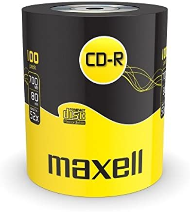 Maxell 624037 CD-R 52x Blank Discs 700MB Extra Protection (100 Disk Pack - Shrink Wrapped)